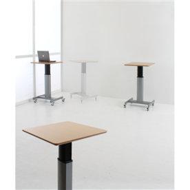 Movon mobilt hævesænkebord 80x60 cm bøg/alu
