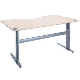 Flexo hæve/sænkebord 160 cm m/centerbue ahorn
