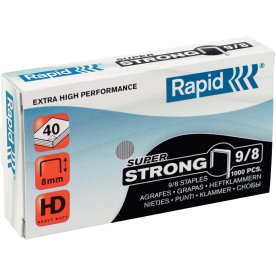 Rapid Super Strong 9/8 Hæfteklammer, 1000 stk.