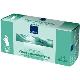 Vinyl handske pudderfri str. S, æske med 100stk