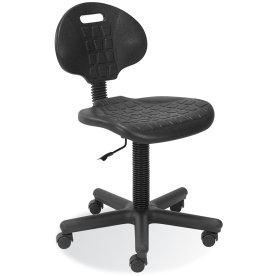 Deluxe arbejdsstol m/ hjul, polyurethan