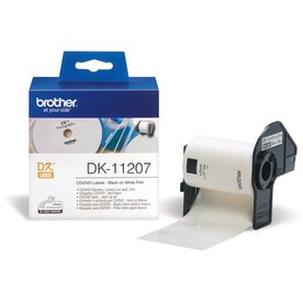 Brother cd/dvd etiket plastic 58x58 mm