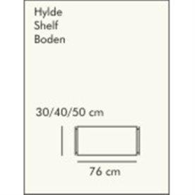 ABC hylde LxD: 76x30 cm, hvidlaseret