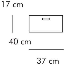 ABC Boks, 17x40 cm, natur