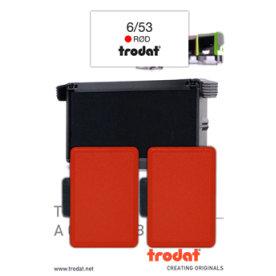 Stempelpude Trodat 6/53, 2 stk. rød