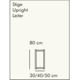 ABC Reolstige HxD: 80x30 cm, hvidlaseret