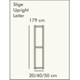 ABC Reolstige HxD: 179x30 cm, hvidlaseret