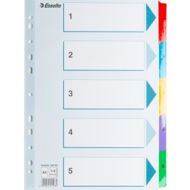 Esselte Mylar register A4, 1-5