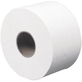 Toiletpapir systemrulle 2-lags, mini perf., hvid