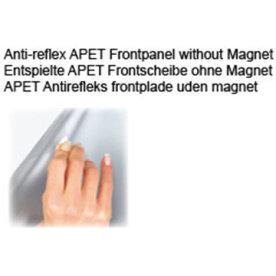 Antirefleks frontplade A3 u/magnet