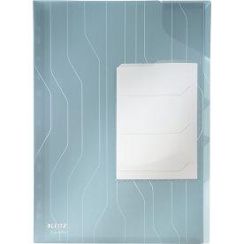 Leitz CombiFile chartek, med 3 rum, blå (3 stk.)