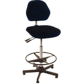 Aktiv arbejdsstol m/ fodring, sort, stof