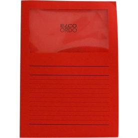 Elco Ordo papiromslag m. rude, rød/ 100 stk
