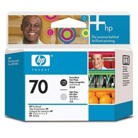 HP nr.70/C9407A printhoved, sort og lys grå
