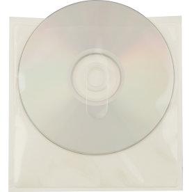 3L CD/DVD-lomme u. flap, selvklæb 127x127, 100 stk