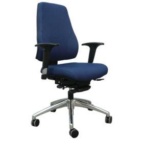 Palermo kontorstol i blå, inkl. armlæn