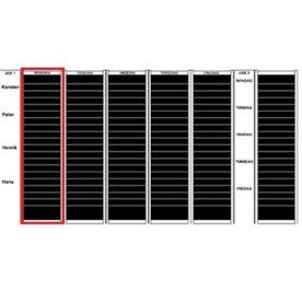 Plan-dex kortmodul A6 tværformat, 20 mm, 54 stk
