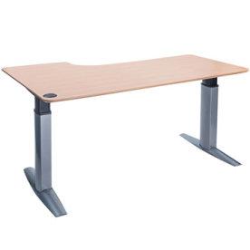 Goliath hæve/sænkebord højre 200 cm bøg/alu