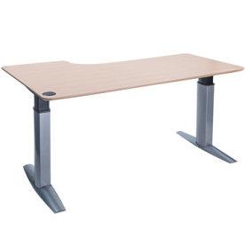 Goliath hæve/sænkebord højre 200 cm ahorn/alu