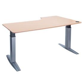 Goliath hæve/sænkebord venstre 200 cm bøg/alu