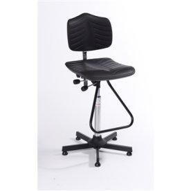 Premium arbejdsstol, fodbøjle, 63-89 cm