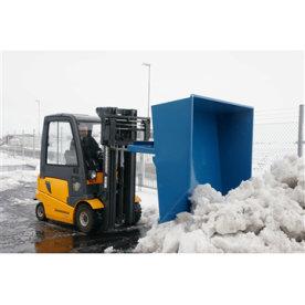 Truckskovl til gaffeltruck, 1500 liter, blå