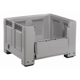 Big Box 670 l - ben & sideåbning,Grå,120x100x76 cm