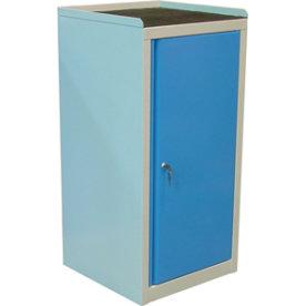 Arbejdsskab 1 dør, 109x50x43,5 cm, Grå/blå
