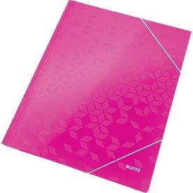 Leitz WOW elastikmappe, pink