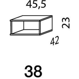Mistral sektion 038 Reol åben antracit