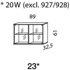 Mistral sektion 023 Glasskab Antracit