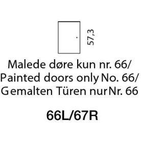 Mistral sektion 066 Trædør Antracit