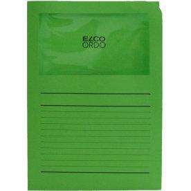 Elco Ordo papiromslag m. rude, grøn/ 100 stk