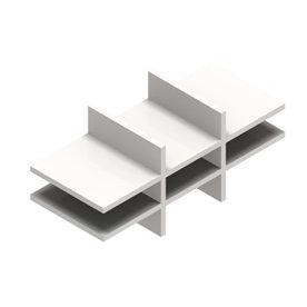 Jive postsorteringsindsats hvid dekor laminat D35