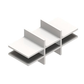 Jive postsorteringsindsats hvid dekor laminat D42