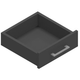 Jive+ enkelskuffe u/lås antracit decor laminat D35