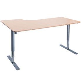 Flex hæve/sænkebord alu/bøg 180 cm, højrevendt