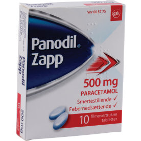 Panodil Zapp Tabletter, 500 mg, 10 stk.
