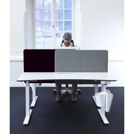 Screenit slide bordskærmvæg B120xH65 cm grå