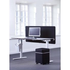 Screenit bordskærmvæg B80xH65 cm sort