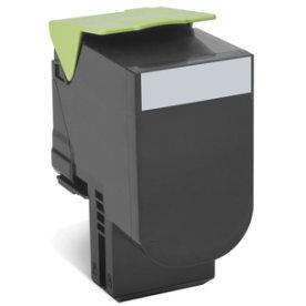 Lexmark 702K Lasertoner, sort, 1000 sider
