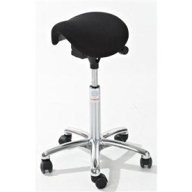 CL Mini sadelstol, sort, stof, 58-77 cm