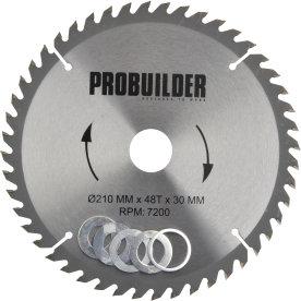 Probuilder klinge, 210x30x2,2 mm, t48