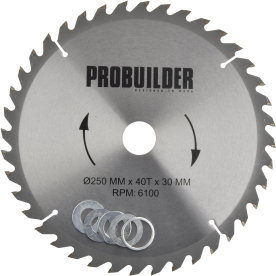 Probuilder klinge, 250x30x3 mm, t40