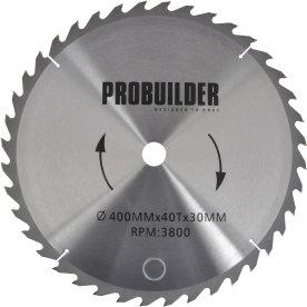 Probuilder klinge, 400x30x3 mm, t40