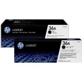 HP 36A/CB436AD lasertoner, sort, 2x2000s