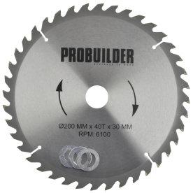 Probuilder rundsavsklinge, 200x30x2,4 mm