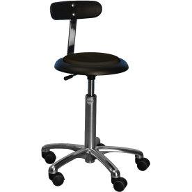 CL Micro stol m/ ryglæn, sort, kunstlæder