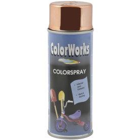 """ColorWorks hobbyspray, """"chrome"""" kobber"""