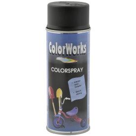ColorWorks hobbyspray, halvblank dybsort